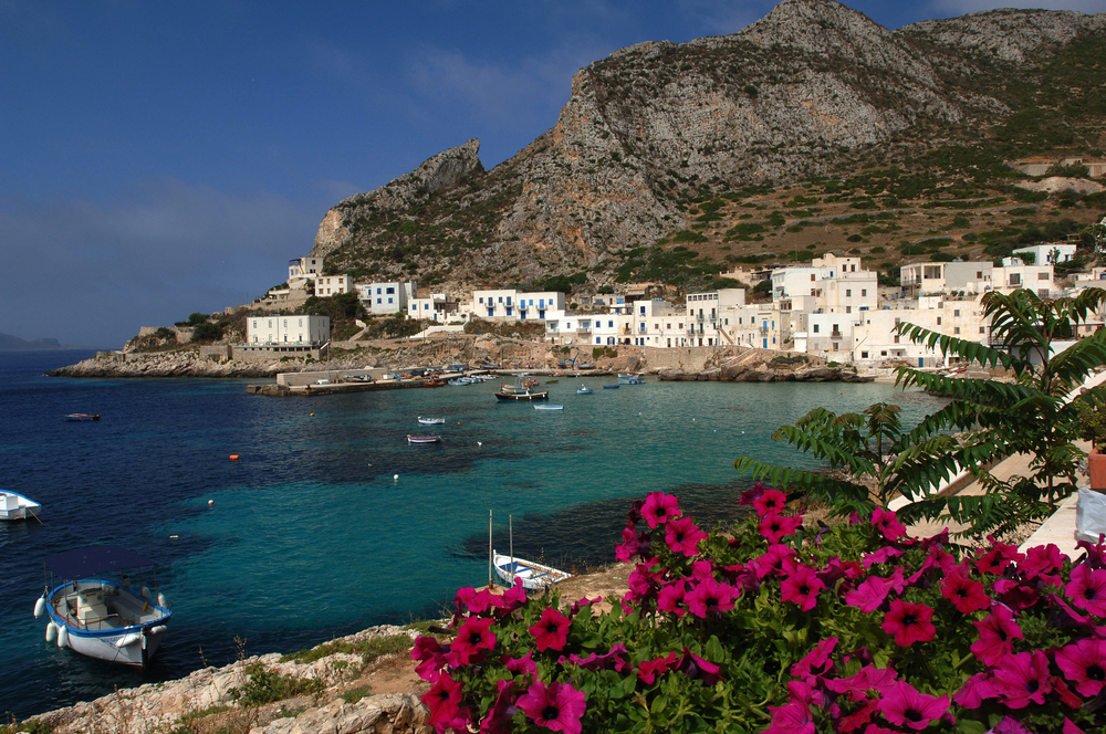 The only village on the island of Levanzo in the Isole Egadi