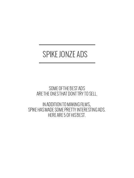 spike jonze ads