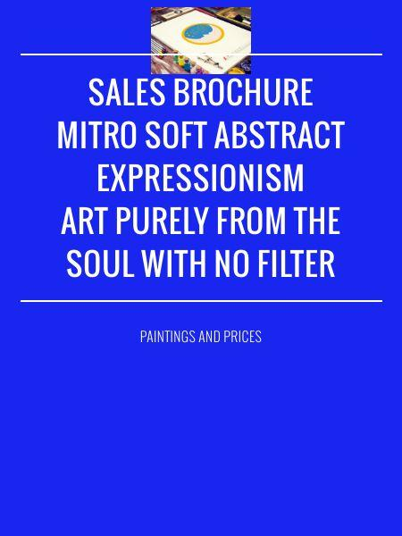 Sales BrochureMitro Soft Abstract Expressionism Art