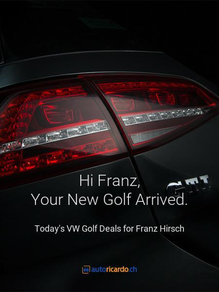 Hi Franz, Your New Golf Arrived.
