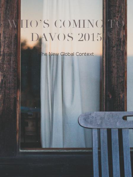 Who's Coming to Davos 2015